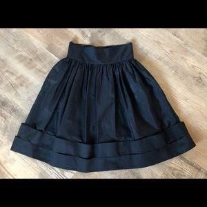 Peter Som Silk A-Line Skirt Black Skirt Size 6.